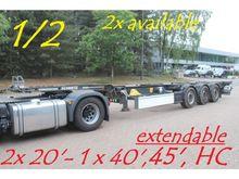 2014 Schmitz Cargobull 2x 20ft