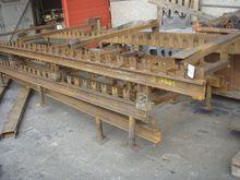 Roller conveyor, 20 m x 1 m