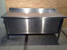 Stainless steel table with slid