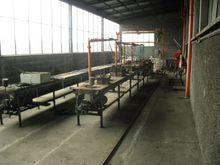 Line to produce fiberglass box