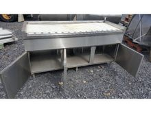 TABLE DESK and fridge Stainless