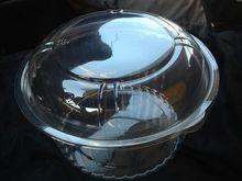 Clear PET Display Bowls w/ Lids