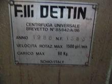 1988 DETTIN Hydro-extractor BER