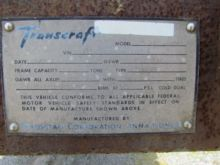 Used 1990 Transcraft