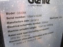 GENIE GS3384 Scissor Lift Stock