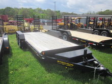 Pequea 18' skid steer trailer