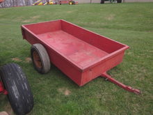 red 4x8 utility trailer