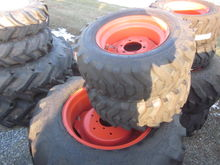 Kubota set of 4 R4 tires & rims