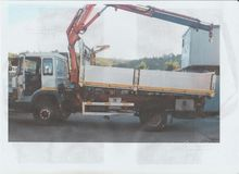 Trucks with cranes and tipper