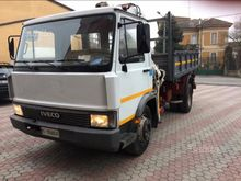 Iveco tipper with crane