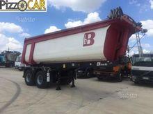 white tipper semitrailers work