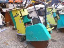 Machine for cutting concrete, a