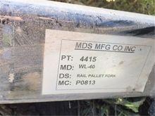 2013 MDS Rail Pallet Fork