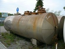 Chemical pressure vessel, lying