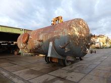 Steel pressure vessel lying on