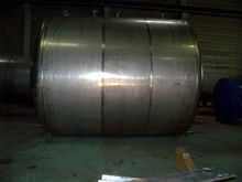 lying stainless steel container