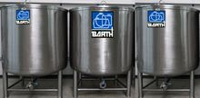 Stainless steel tank of V2A 15-