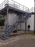 Stairs made of galvanized steel