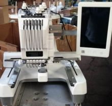 Used Melco Embroidery Machine Gray Round Hoop 20cm BW-409