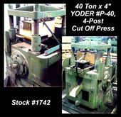 "1951 YODER P-40 40 Ton x 4"" 4-P"