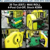 "MAX ROLL 20 Ton x 2"" 4-Post Cut"