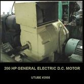 GENERAL ELECTRIC 200 H.P. D.C.