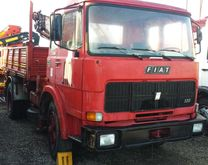 Truck Fiat Iveco 130 crane and