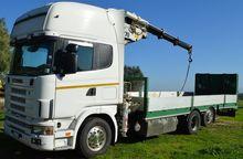 Scania flatbed tractor carrello