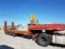 Semitrailer 4 axles extendable