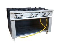 Kitchen six burner gas used