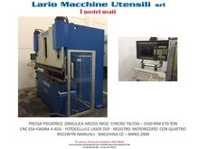 Hydraulic bending machine MECOS