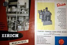 Eirich Mixer Vintage Eirich Mix