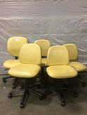 Lot of (5) Yellow Lab Chairs