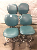 Lot of (4) Green Lab Chairs