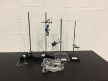 Lot of (5) Lab Stands