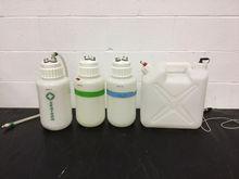 Lot of (4) Plastic Lab Bottles