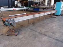 Flat Belt Conveyor, 6270mm L x