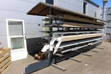 Double cantilever rack covers a