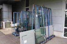 A-glass transport pallets each