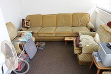 Upholstery set wood / cover gre