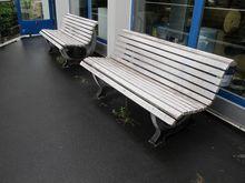 Garden benches plastic white #