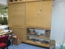 Tambour cupboards wood # 59398