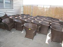 Wicker chairs dark # 61813