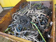 Used cable scrap in