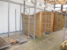 Storage carts for privacy fence