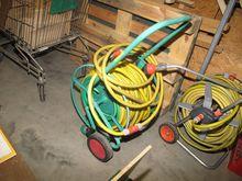 Garden Hose Cart with yellow ho