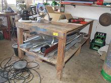 Worktable wooden homemade # 675