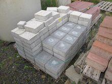 Concrete pavers gray and light