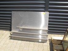 Stainless steel back wall with