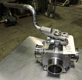 Three Way Sani  Ball  Valve 3 W